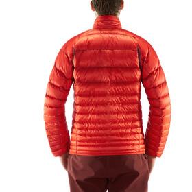 Haglöfs Essens Manteau en duvet Homme, habanero/maroon red